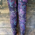 Our Chinese Dragon design packed with colourful flowers and dragons, absolutely stunning!  Squat proof, gym, high waisted, high quality, funky leggings, fitness and yoga, running and pole fitness, exercise.  Unwonted apparel alternative leggings, quirky leggings.